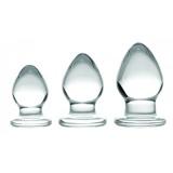 3ピースガラスアナルプラグキット
