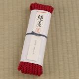 高級麻縄・10Mタイプ[赤色] (6mm)