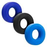コックリング3個セット (タール(ブラック)・コバルト(ブルー…