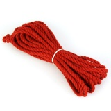 紅色縄 染麻縄 細縄(5〜6ミリ) (七間(10m))