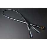 1本鞭 4本編み ハードレザー (単色編み/金かな具)