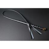 1本鞭 4本編み ハードレザー (単色編み/銀かな具)