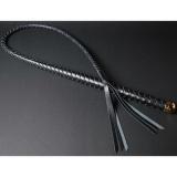 1本鞭 6本編み ハードレザー (単色編み/金かな具)